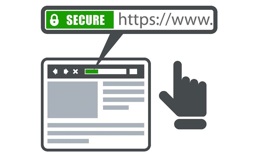 zoom on a website secured url with a https protocol